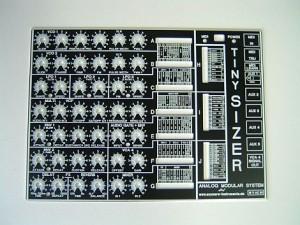Alu-Frontplatte schwarz mit Siebdruck