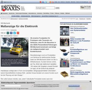 Artikel in der Elektronik-Praxis